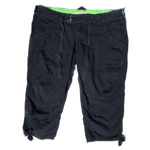 Arizona Jean Company Cargo Capris Black Green 7